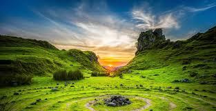 Pasture image in beautiful Scotland